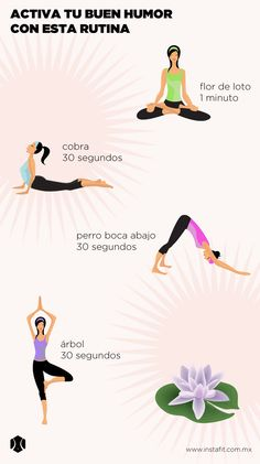 Yoga routine to activate your good mood. - Yoga is an activity that you can practice anywhere and will put you in touch with your own being. Yoga Kundalini, Yoga Meditation, Yoga Hatha, Namaste Yoga, Meditation Space, Iyengar Yoga, Yoga Mantras, Fitness Del Yoga, Health Fitness