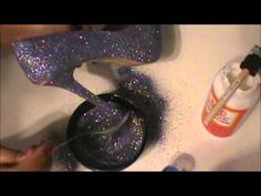 DIY Glitter Heel :)) - YouTube.... way easier than a thought