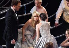 Pin for Later: Die 55 besten Bilder der Oscars 2015 Chris Pratt, Anna Faris und Felicity Jones