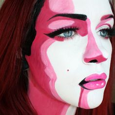 """A different style of pop art makeup"" by redditor Sssamanthaa"