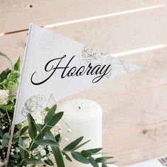 Hochzeitsfahnen im Vintage Stil (10er Set) #wedding #vintagewedding