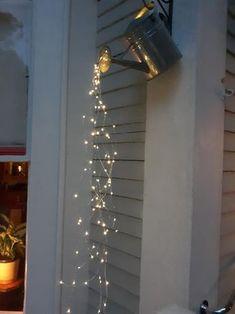 Hanging Patio Lights, Patio Lighting, Accent Lighting, Hanging Plants, Garden Lighting Ideas, Outside Lighting Ideas, Outdoor Chandelier, Rustic Lighting, Garden Room Lighting