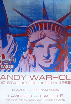 Statues of Liberty Paris by Andy Warhol
