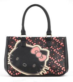 A sweet #HelloKitty face and pretty pink eyelet patterns