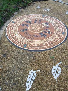 Lesnes Abbey Mosaic, Abbey Wood, London  – by Gary Drostle