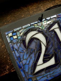 Mosaic House Number on Slate 4 digit