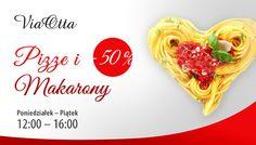 Pizza czy pasta... Via Otta podsuwa rozwiązanie! dziś na lunch pizza, jutro pyszny makaron :) www.viaotta.pl