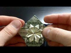 Origami heart from a dollar bill