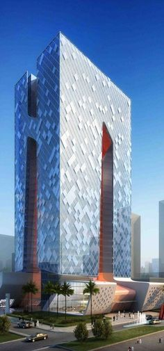 Lusail Office Tower, Doha, Qatar by BEAD Architects :: 31 floors, height 130m :: proposal