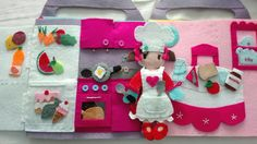 Kitchen pages. Quiet book-doll house Www.onceuponasock.weebly.com