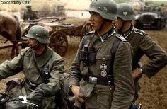Soldados alemanes en Ucrania, 1941.