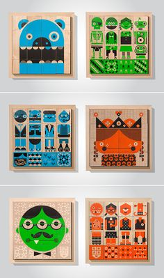 Wee Society Wee-You-Things Wooden Puzzle Blocks - SmallforBig.com