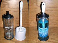 Self-disinfecting toilet brush- MUST do this since I find the whole idea of a reusable toilet brush repulsive.