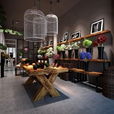 Flower shop by zenny nguyen, via Behance