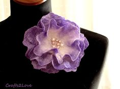 Reserved. Wet felted wool rose. Lavender. Hand dyed by Crafts2Love, $29.00