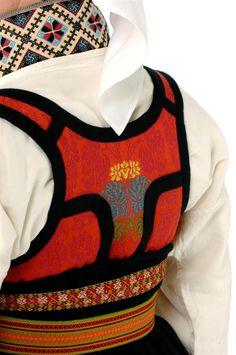 From The Green Forest: Folkedragter i Norden Folk Costume, Costumes, Norwegian Clothing, Norwegian Vikings, Red Vest, Scandinavian Style, Traditional Dresses, Dance Wear, Norway