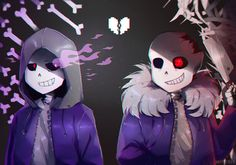 horrorDUST by Suyorii0  #Sans #Horrortale #Dusttale  They look cool when working together