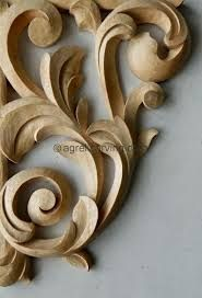 Image result for acanthus wood carving Woodworking At Home, Awesome Woodworking Ideas, Woodworking Workshop, Woodworking Projects, Wood Carving Designs, Wood Carving Patterns, Wooden Feather, Woodworking Organization, Wood Pallets