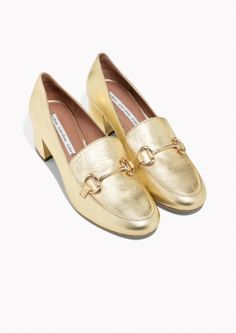 & Other Stories image 2 of Horsebit Loafer Pumps in Gold