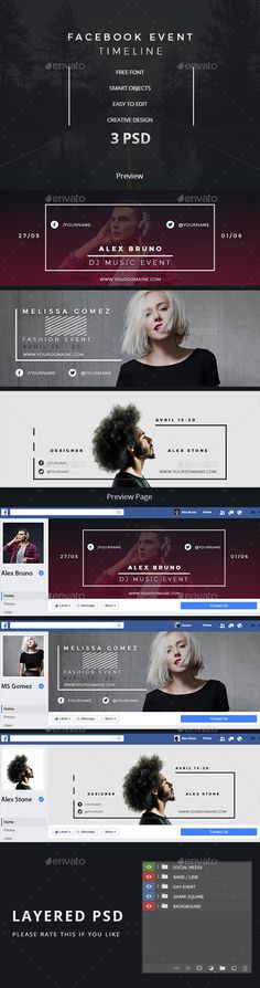 Facebook Event Timeline — Photoshop PSD #night club #events • Download ➝ https://graphicriver.net/item/facebook-event-timeline/19184722?ref=pxcr