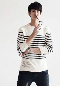 Men's Stripes Slim Long Sleeve T-Shirt