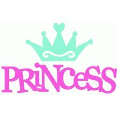 Silhouette Design Store - View Design #42916: princess + crown
