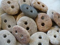 small stone buttons - so cool!!