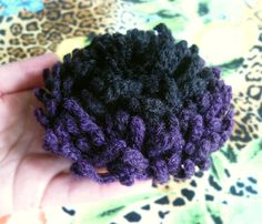 Flower brooch pin Hair clips for wedding Black Purple gothic brooch jewelry Crochet Chrysanthemum flower jewelry gifts Gifts ideas for women by KaOliaCreativeStudio on Etsy