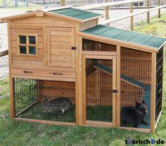 hasenstall auslauf freilauf hasen stall kaninchen haus gehege k fig hasenhaus. Black Bedroom Furniture Sets. Home Design Ideas