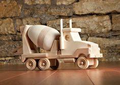 Wooden Cement Truck Toy por KringleWorkshops en Etsy