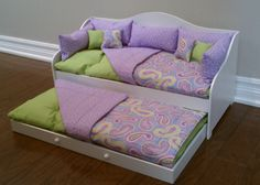 "13-Piece Daybed Bedding fits 18"" American Girl Doll Bed - LIMITED SUPPLY. $39.00, via Etsy."