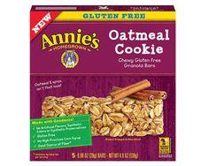 Annie's granola bars are gluten-free and delicious.