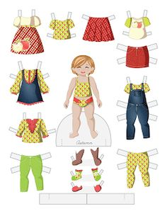 Paper Doll School: Toddler Fashion Friday - Autumn
