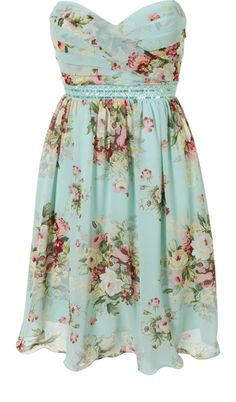 blue flower bridesmaid dress. So pretty and different than the norm