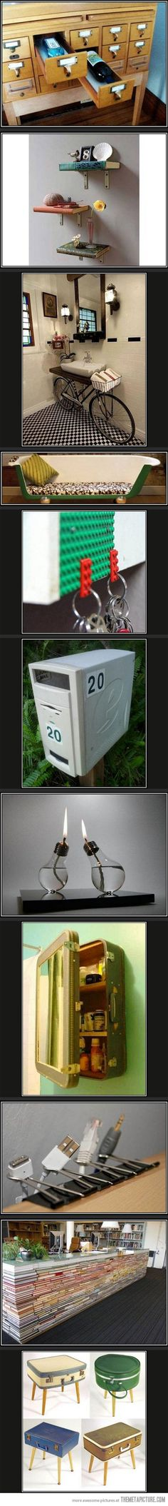Creative ways to repurpose old stuff...