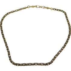 A Superb early English Victorian 15 k Rose Gold chain /necklace 9ct Gold Chain, Rose Gold Chain, Gold Chains, Puzzle Ring, Victorian Gold, Discount Designer, English, Best Deals, Knot