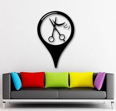 Wall Sticker Vinyl Decal Barbershop Sign Hair Salon Hairdresser Haircut (ig1719)