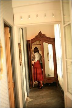 Use wardrobe doors to open into another room. Because NARNIA. (This is a restaurant in Paris.)