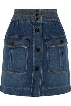 Chloé Stonewashed denim mini skirt | NET-A-PORTER