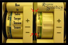 Learn how to solve serger tension issues.