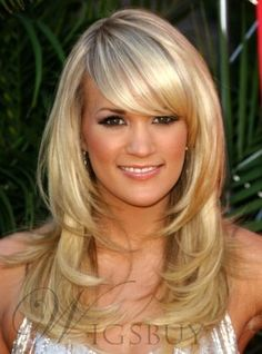 Long Layered Haircuts With Bangs - Bing Images Straight Layered Hair, Layered Hair With Bangs, Long Layered Haircuts, Layered Hairstyles, Straight Haircuts, Medium Haircuts, Trendy Hairstyles, Hair Layers, Choppy Layers