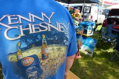 Kenny Chesney No Shoes Radio shirt and the Tampa tailgate.