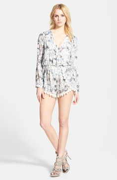 ASTR Lace Trim Romper available at #Nordstrom