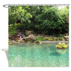 Zen Water Garden Shower Curtain