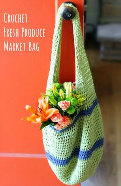 How to Crochet a Fresh Product Market Bag