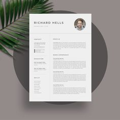 Resume/CV by UX-group on @creativemarket Student Resume Template, Resume Design Template, Creative Resume Templates, Cv Template, Design Templates, Letterhead Design, Modern Resume, Social Icons, Typography