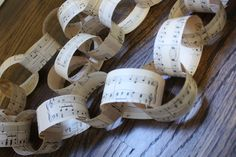 Music Sheet Garland Chain by AnchorandLace on Etsy, $12.00