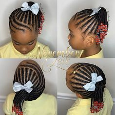 2019 Beautiful and Lovely Braids for Kids Black Kids Braids Hairstyles, Little Girls Natural Hairstyles, Toddler Braided Hairstyles, Toddler Braids, Braids Hairstyles Pictures, Cute Little Girl Hairstyles, Kid Hairstyles, Childrens Hairstyles, Little Black Girls Braids