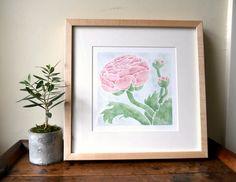 Ranunculus flower print $10 from bottle branch shop on etsy