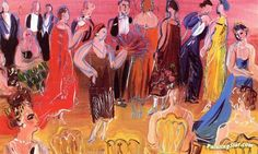 Reception Artwork by Raoul Dufy Hand-painted and Art Prints on canvas for sale,you can custom the size and frame